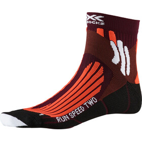 X-Socks Run Speed Two Chaussettes Homme, sunset orange/pearl grey